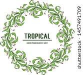 pattern art flower frame and... | Shutterstock .eps vector #1457491709