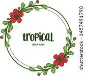 template summer tropical  shape ... | Shutterstock .eps vector #1457491790