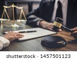 businesswoman and male lawyer... | Shutterstock . vector #1457501123