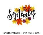 September Hand Lettering Text...