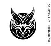 happy halloween owl vector image | Shutterstock .eps vector #1457518490