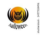 happy halloween owl vector image | Shutterstock .eps vector #1457518496