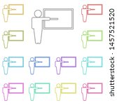 teacher multi color icon....