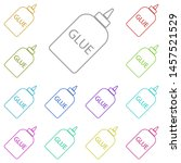 glue illustration multi color...