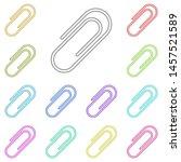 paper clip multi color icon....