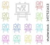 board with formula multi color...