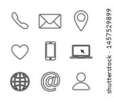 set of contact us linear icon.... | Shutterstock .eps vector #1457529899