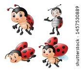 Cartoon Funny Ladybug...