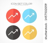 trend up graph icon in trendy... | Shutterstock .eps vector #1457532059