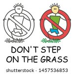 funny vector stick man step on... | Shutterstock .eps vector #1457536853