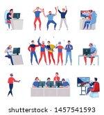 cyber sport set of isolated...   Shutterstock .eps vector #1457541593