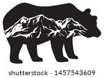 wild bear  grizzly  and... | Shutterstock . vector #1457543609