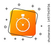 white stopwatch icon isolated... | Shutterstock .eps vector #1457543936