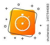 white stopwatch icon isolated... | Shutterstock .eps vector #1457544083