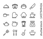 kitchen and cooking line icons... | Shutterstock .eps vector #1457549426