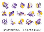 online payment isometric icons... | Shutterstock .eps vector #1457551130