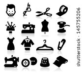 sewing icons | Shutterstock .eps vector #145755206