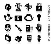 electricity icons | Shutterstock .eps vector #145755209