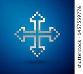 silver pixel arrows in four... | Shutterstock .eps vector #1457559776