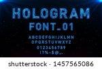 futuristic hologram hud blue... | Shutterstock .eps vector #1457565086