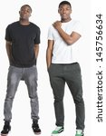 portrait of two young men in... | Shutterstock . vector #145756634