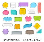 quote colorful frames textboxes ... | Shutterstock .eps vector #1457581769