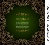 luxury background with golden... | Shutterstock .eps vector #1457582540