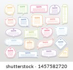 quote colorful 3d frames... | Shutterstock .eps vector #1457582720