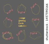 set of hand drawn doodle style... | Shutterstock .eps vector #1457590166