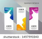 creative roll up banner stand... | Shutterstock .eps vector #1457593343