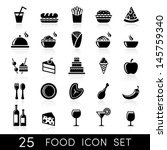 food icon set | Shutterstock .eps vector #145759340