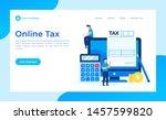 online tax form  concept vector ... | Shutterstock .eps vector #1457599820
