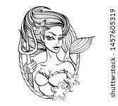 Portrait Of A Mermaid In...