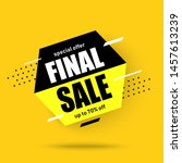 abstract banner final sale.on... | Shutterstock .eps vector #1457613239
