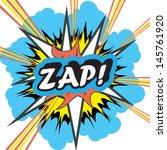 pop art explosion zap | Shutterstock . vector #145761920