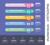 colorful infographics... | Shutterstock .eps vector #1457626946