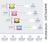 vector infographics... | Shutterstock .eps vector #1457626949
