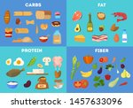food groups set. protein and... | Shutterstock .eps vector #1457633096