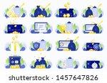 set of business illustrations.... | Shutterstock .eps vector #1457647826
