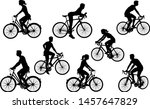 a set of bicycle cyclists...   Shutterstock .eps vector #1457647829