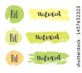 vector set of healthy natural ... | Shutterstock .eps vector #1457652323