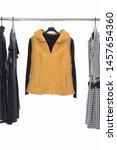 female black sweater  clothing  ...   Shutterstock . vector #1457654360