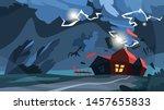 tornado storm. hurricane above... | Shutterstock .eps vector #1457655833