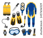 vector set of equipment for... | Shutterstock .eps vector #1457656529