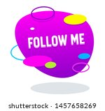 follow me oval shaped banner in ...