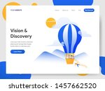 landing page template of vision ... | Shutterstock .eps vector #1457662520