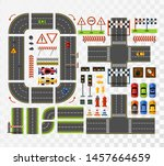 racing game asset in flat style.... | Shutterstock .eps vector #1457664659