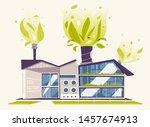 modern green eco factory... | Shutterstock .eps vector #1457674913