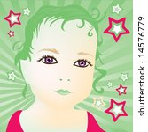 baby girl | Shutterstock .eps vector #14576779