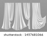 white curtains set isolated on... | Shutterstock .eps vector #1457681066